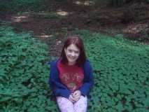 Redwoods - Brandie looking for a 4 leaf clover