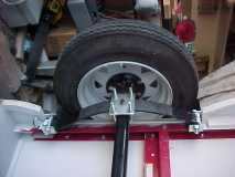 stacker, axle bolt up