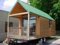 LEISURE HUT MOBILE LOG CABIN TOWABLE TRAVEL TRAILER